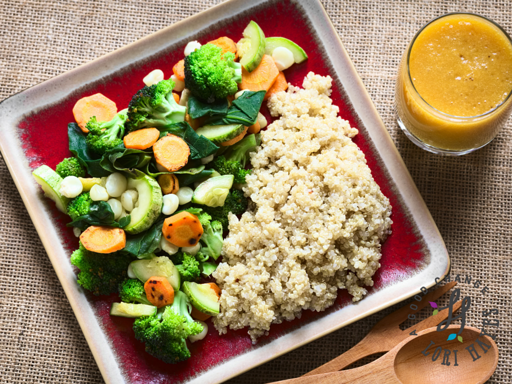 Quinoa with Veggies - Fried Rice Style - A Good Change