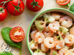 Marinated Grilled Shrimp And Pasta